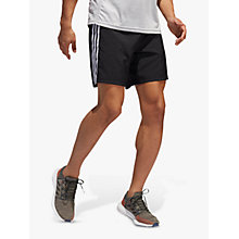 "Buy adidas Response 7"" Logo Running Shorts, Black Online at johnlewis.com"