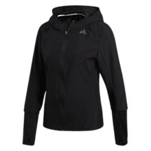 Buy adidas Response Hooded Wind Running Jacket, Black Online at johnlewis.com