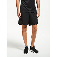 "Buy adidas Response 5"" Logo Running Shorts, Black Online at johnlewis.com"