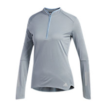 Buy adidas Pullover Running Top, Raw Grey Online at johnlewis.com