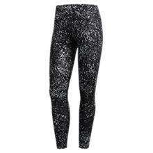 Buy adidas How We Do 7/8 Printed Running Tights, Black Online at johnlewis.com