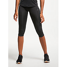 Buy Adidas Response 3/4 Length Running Tights, Black Online at johnlewis.com