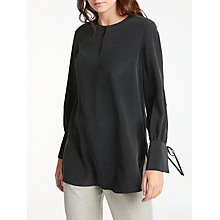 Buy Modern Rarity Split Sleeve Silk Blouse, Charcoal Online at johnlewis.com