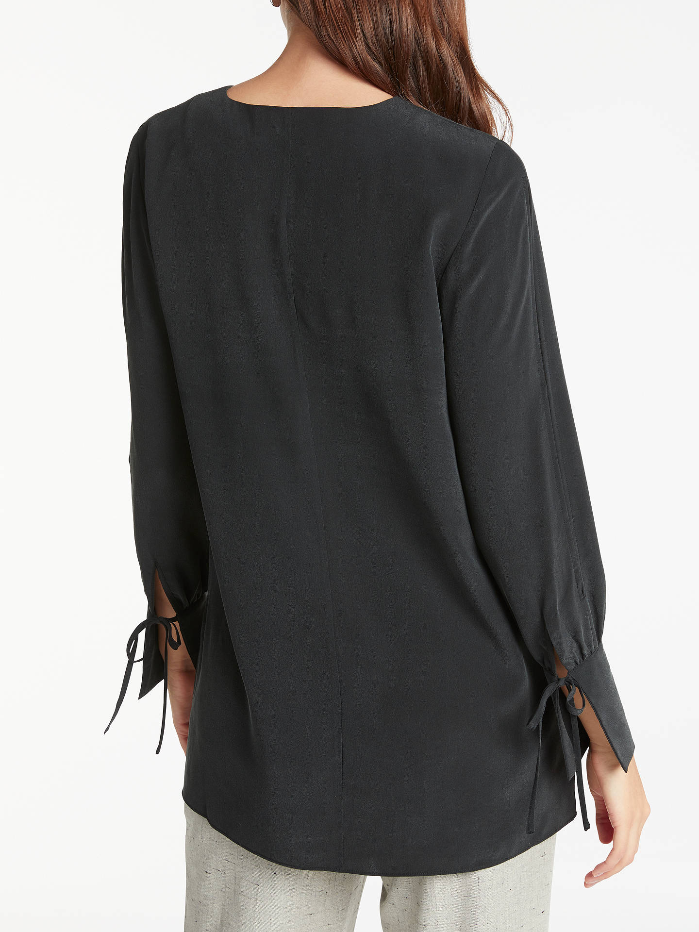 BuyModern Rarity Split Sleeve Silk Blouse, Charcoal, 8 Online at johnlewis.com