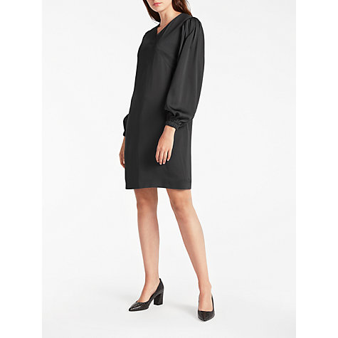 Buy Modern Rarity Pleat Sleeve Dress, Charcoal Online at johnlewis.com