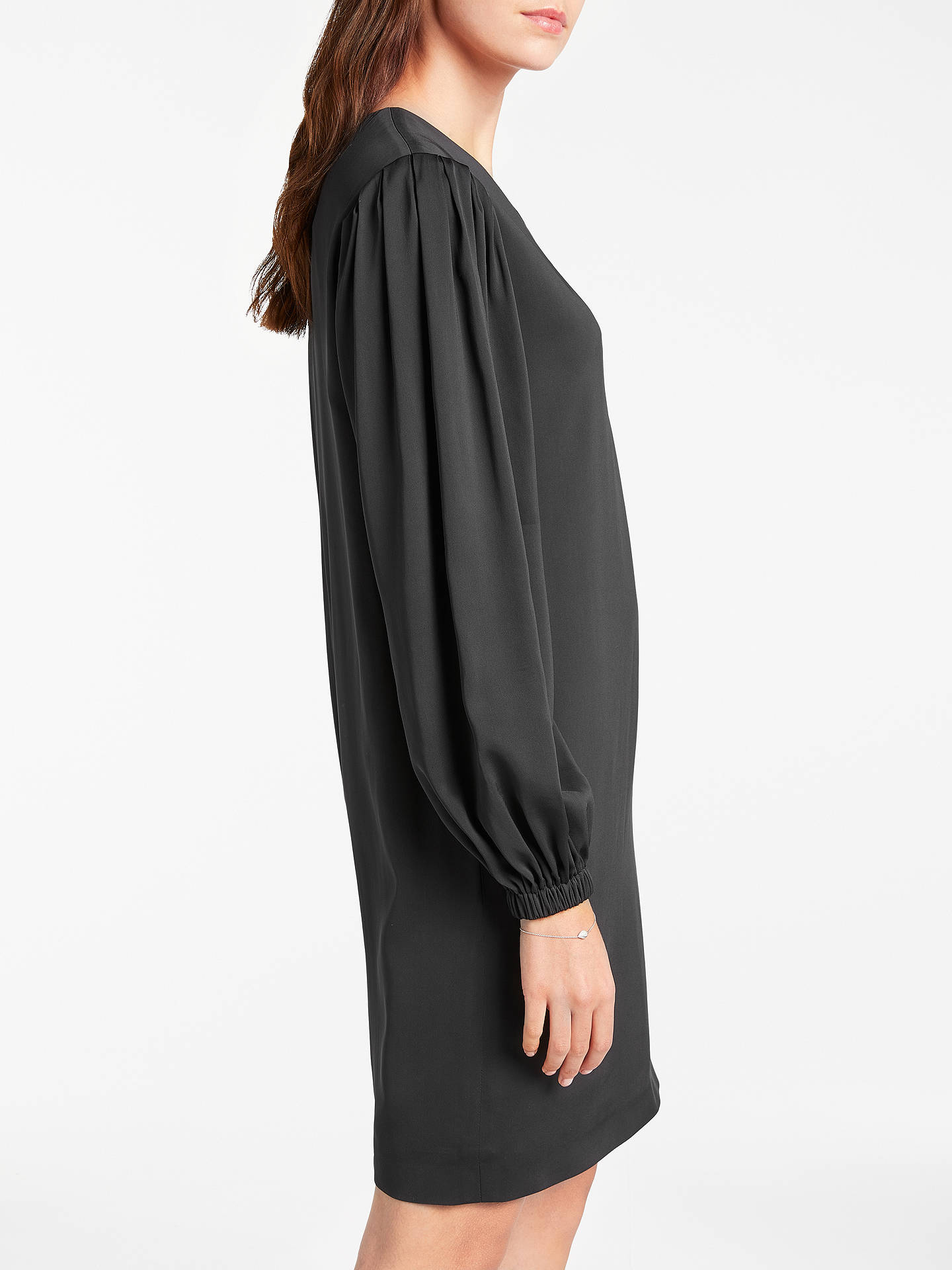 BuyModern Rarity Pleat Sleeve Dress, Charcoal, 8 Online at johnlewis.com
