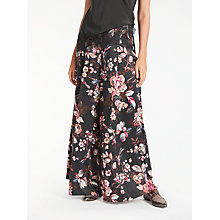Buy Modern Rarity Wide Leg Archive Floral Print Trousers, Charcoal Online at johnlewis.com