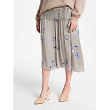 Buy Modern Rarity Double Layer Spaced Floral Skirt, Nutmeg Online at johnlewis.com