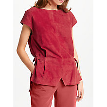 Buy Modern Rarity Suede Top, Claret Online at johnlewis.com