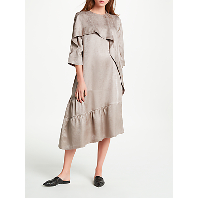 Modern Rarity Eudon Choi Chana Textured Silk Dress, Nutmeg