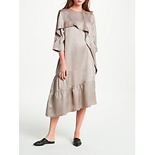 Buy Modern Rarity Eudon Choi Chana Textured Silk Dress, Nutmeg Online at johnlewis.com