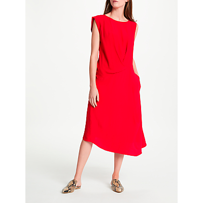 Modern Rarity Eudon Choi Surette Drape Dress, Red