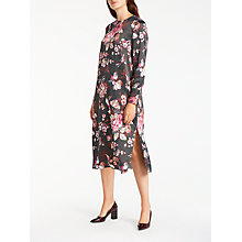 Buy Modern Rarity Archive Floral Print Dress, Charcoal Online at johnlewis.com