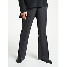 Buy Modern Rarity Satin Wide Leg Trousers, Charcoal Online at johnlewis.com