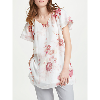 Modern Rarity Full Sleeve Floral Bouquet Top, Ivory