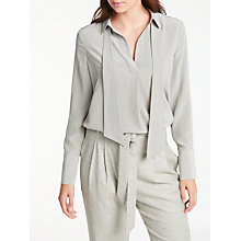 Buy Modern Rarity Tie Neck Silk Tunic Top, Silver Grey Online at johnlewis.com