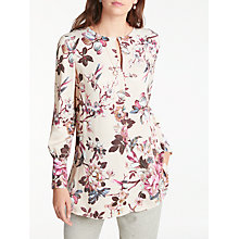 Buy Modern Rarity Archive Print Split Sleeve Blouse, Nude Floral Online at johnlewis.com