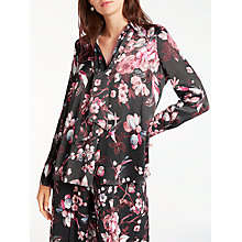 Buy Modern Rarity Archive Floral Print Shirt, Charcoal Online at johnlewis.com