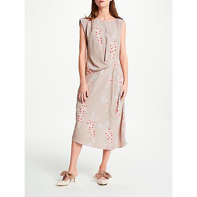 Modern Rarity Eudon Choi Surette Drape Archive Print Dress, Nutmeg