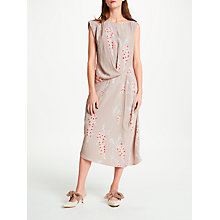 Buy Modern Rarity Eudon Choi Surette Drape Archive Print Dress, Nutmeg Online at johnlewis.com