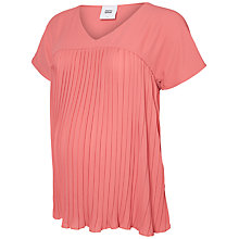 Buy Mamalicious Aneth Pleat Top, Pink Online at johnlewis.com