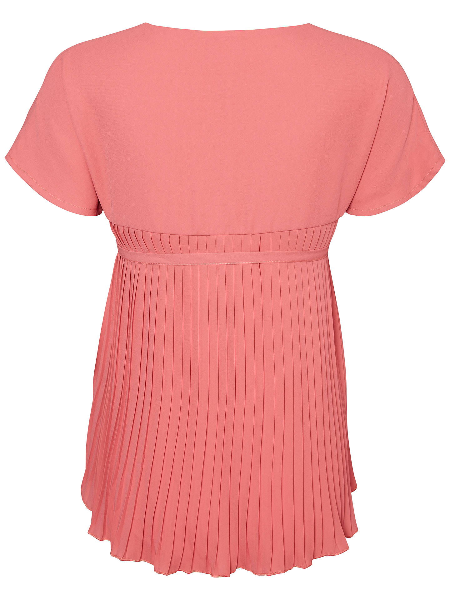 BuyMamalicious Aneth Pleat Top, Pink, S Online at johnlewis.com