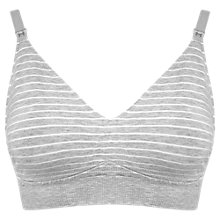 Buy Séraphine Samantha Seamless Bamboo Maternity Nursing Bra, Grey/White Online at johnlewis.com