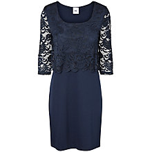 Buy Mamalicious June Lace Overlay Maternity Dress, Black Online at johnlewis.com