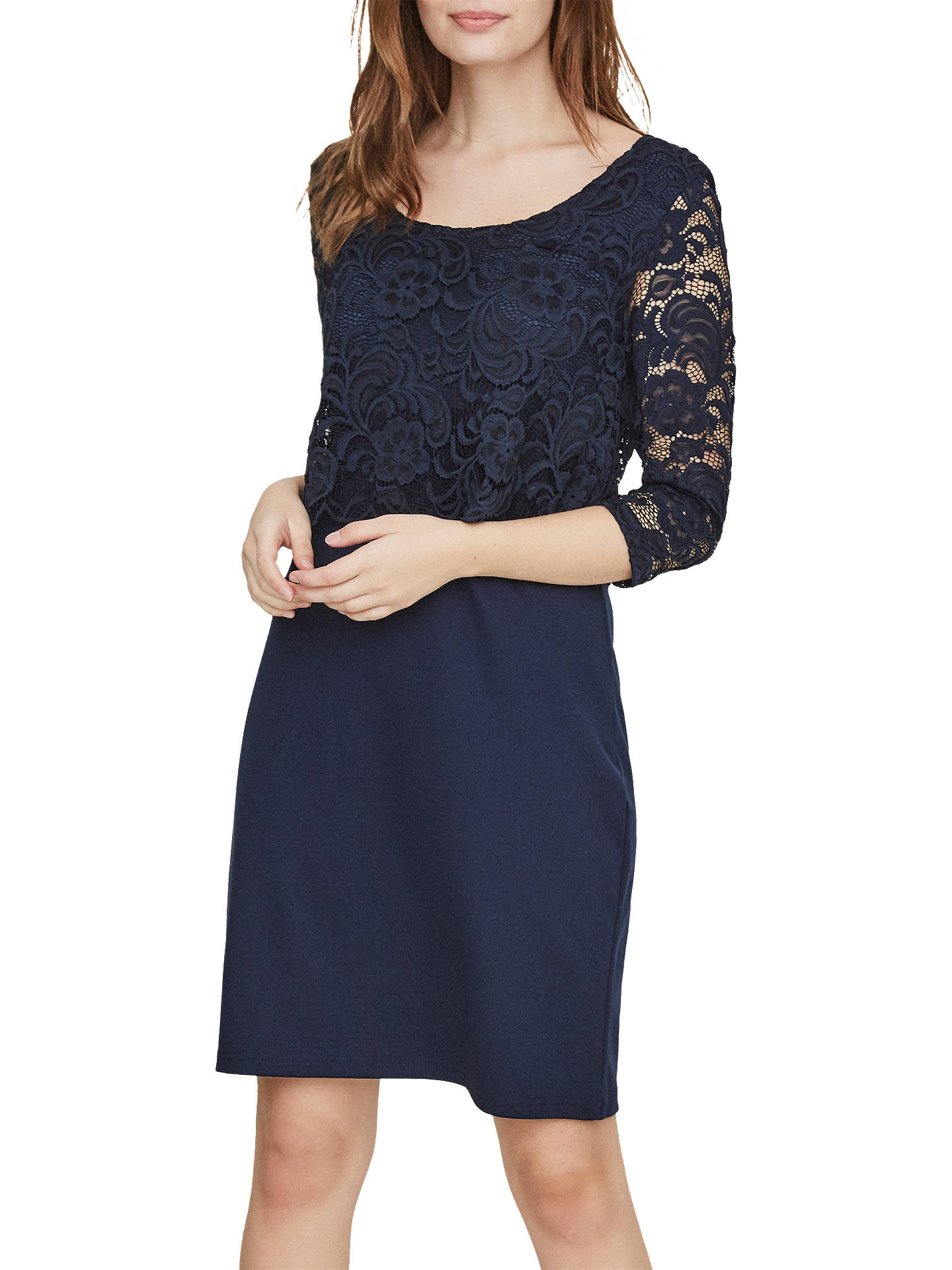 15322d91c558e Buy Mamalicious June Lace Overlay Maternity Nursing Dress, Navy, S Online  at johnlewis.