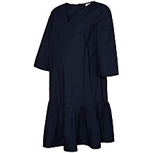 Buy Mamalicious Triana 3/4 Sleeve Woven Dress, Navy Online at johnlewis.com