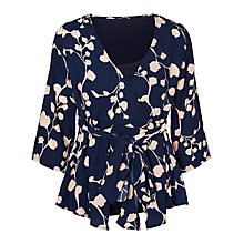 Buy Mamalicious Kaleva Tess Wrap Maternity Top, Navy/Pink Online at johnlewis.com