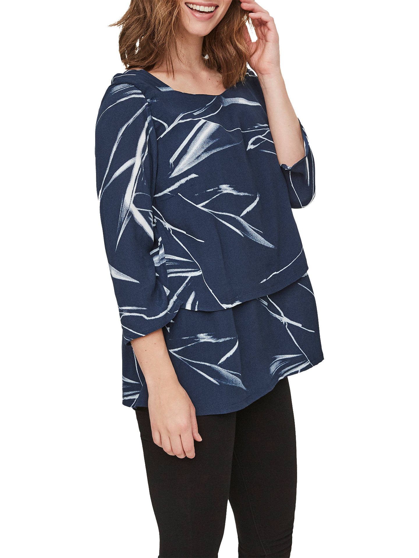 52570fb99b8b6 Buy Mamalicious Ashley Woven Maternity Nursing Top, Navy, S Online at  johnlewis.com ...
