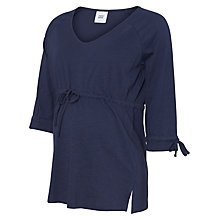 Buy Mamalicious Delray 3/4 Jersey Top, Navy Online at johnlewis.com