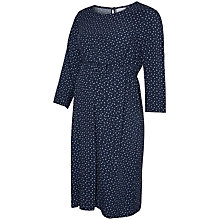 Buy Mamalicious South 3/4 Sleeve Woven Maternity Dress, Navy Online at johnlewis.com