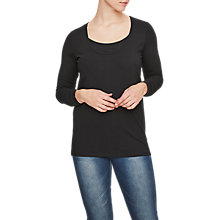 Buy Mamalicious Lea Organic Cotton Long Sleeve Top, Pack of 2, Black and Navy Online at johnlewis.com