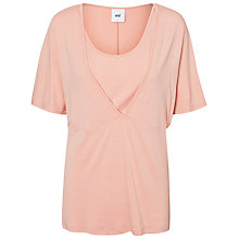 Buy Mamalicious Willa Short Sleeve Jersey Top, Pink Online at johnlewis.com