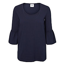 Buy Mamalicious Nell Frill Sleeve Jersey Top, Navy Online at johnlewis.com