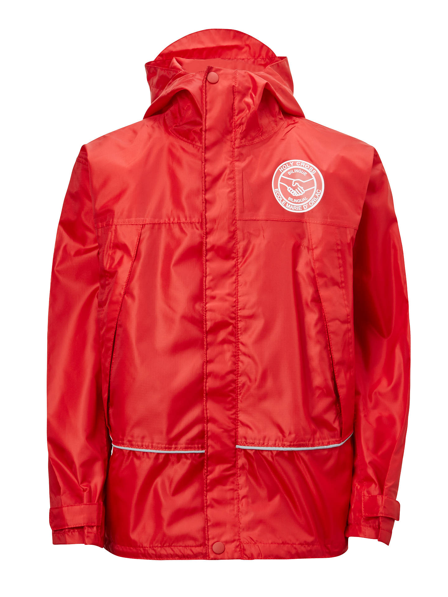 Buy Bilingue/Bilingual Stream of L'Ecole Marie D'Orliac & Holy Cross School Rain Jacket, Red, 5-6 years Online at johnlewis.com