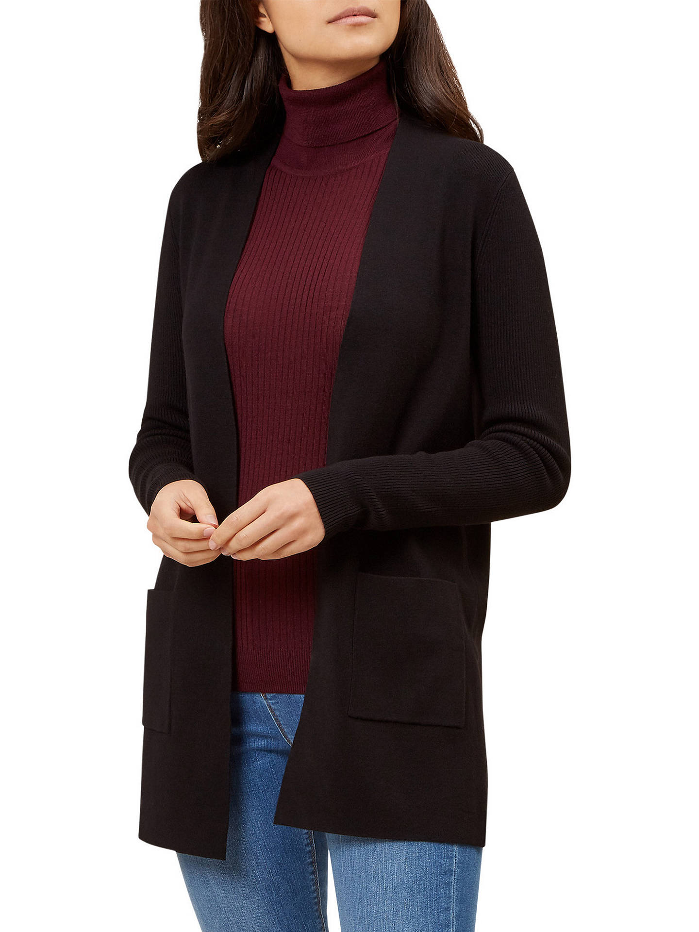 BuyHobbs Leigh Cardigan, Black, XS Online at johnlewis.com