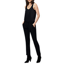 Buy East Tie Detail Stripe Trousers, Black Online at johnlewis.com