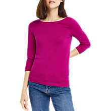 Buy Oasis Textured Knitted Top, Deep Pink Online at johnlewis.com