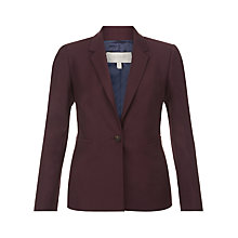Buy Hobbs Ayla Wool Blend Jacket, Dark Merlot Online at johnlewis.com