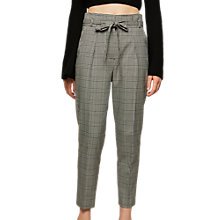 Buy Miss Selfridge Paper Bag Trousers, Check Print Online at johnlewis.com