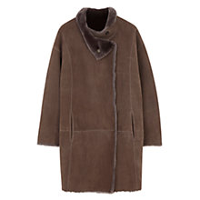 Buy Gerard Darel Grant Sheepskin Coat, Brown Online at johnlewis.com