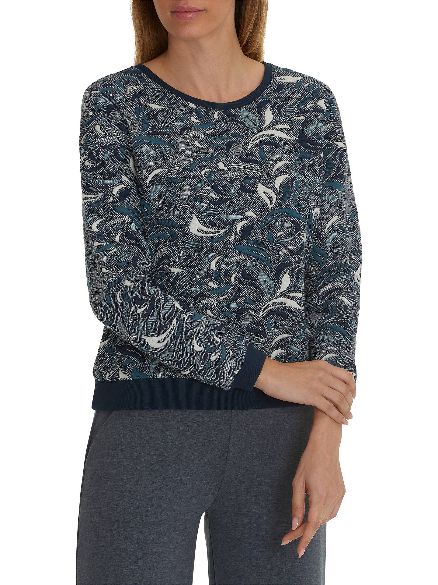 BuyBetty Barclay Tapestry Jumper, Dark Blue/Petrol, 10 Online at johnlewis.com