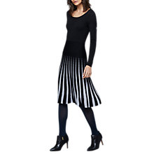Buy East Merino Stripe Dress, Granite Online at johnlewis.com