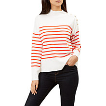 Buy Hobbs Red Marina Jumper, Ivory/Red Online at johnlewis.com