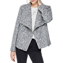 Buy Mint Velvet Textured Wool Blend Biker Jacket, Light Grey Online at johnlewis.com