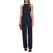 Buy Reiss Lolita Backless Bow Detail Jumpsuit, Ink Online at johnlewis.com