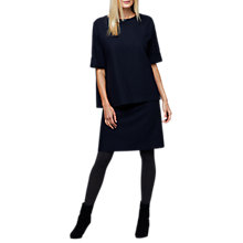Buy East Wool Mix Spot Top, Ink Online at johnlewis.com